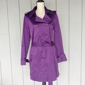 JOAN RIVERS | Purple Double Breasted Trenchcoat